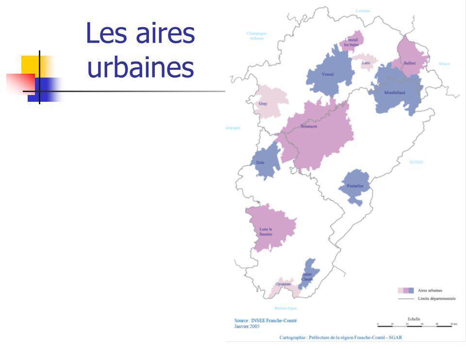 Les aires urbaines