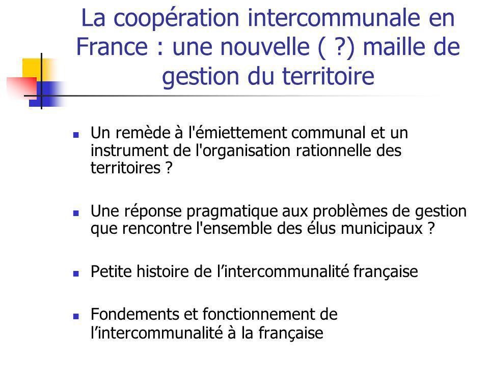 La coopération intercommunale en France : une nouvelle (