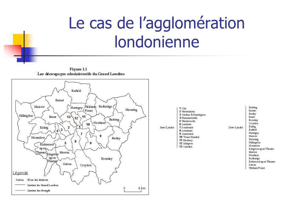 Le cas de l'agglomération londonienne