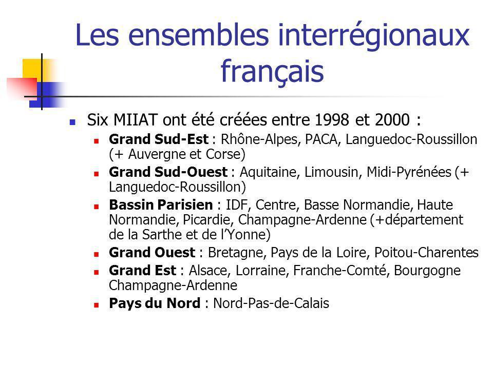 Les ensembles interrégionaux français