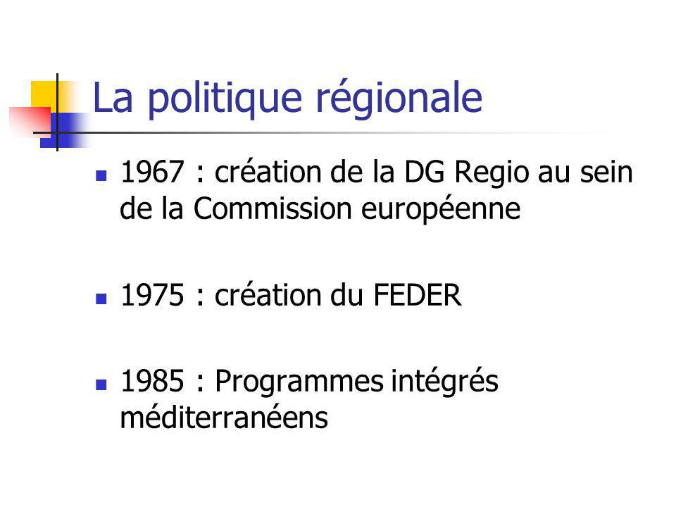 La politique régionale