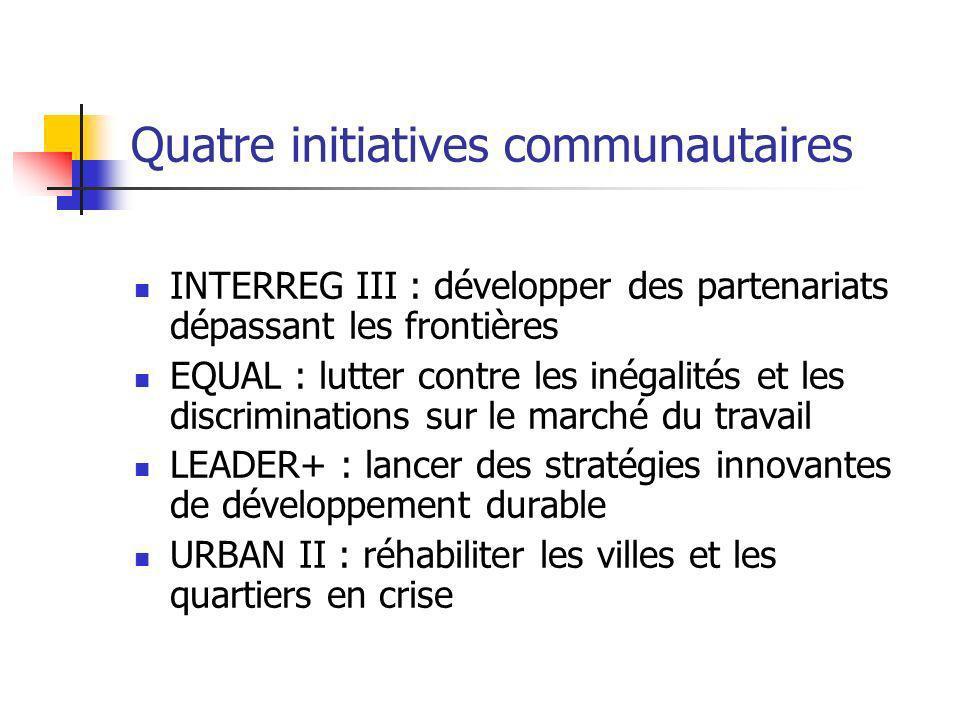 Quatre initiatives communautaires