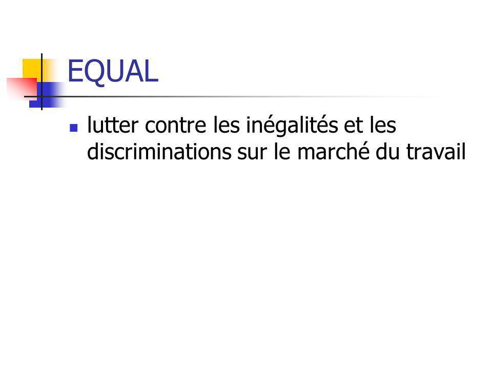 EQUAL lutter contre les inégalités et les discriminations sur le marché du travail