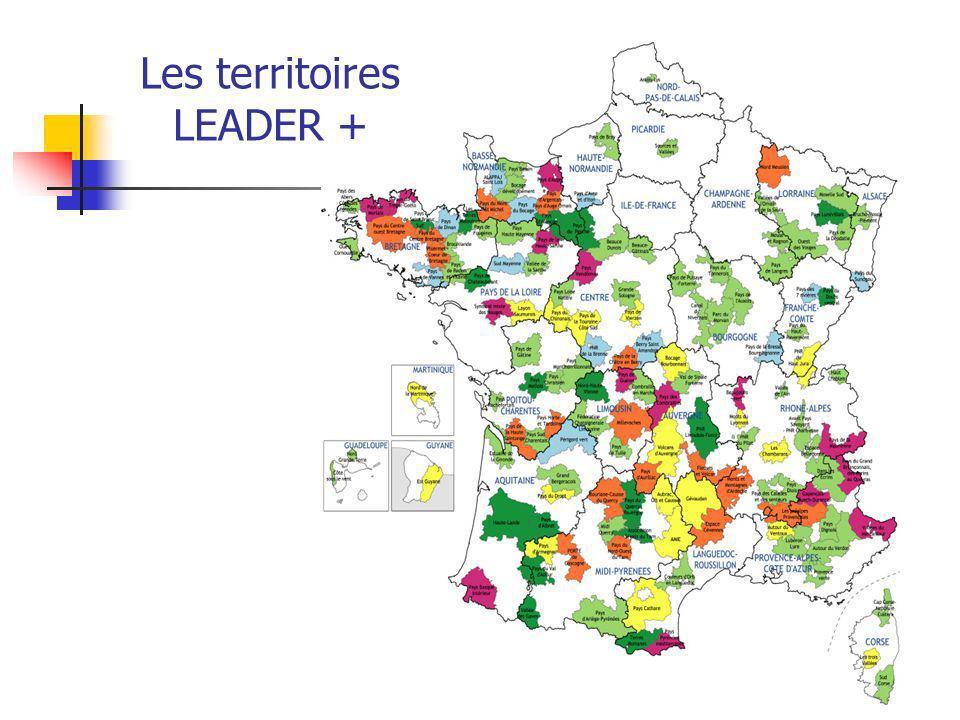 Les territoires LEADER +