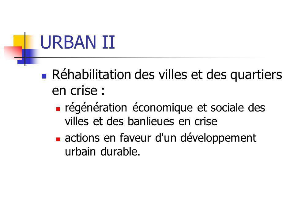 URBAN II Réhabilitation des villes et des quartiers en crise :
