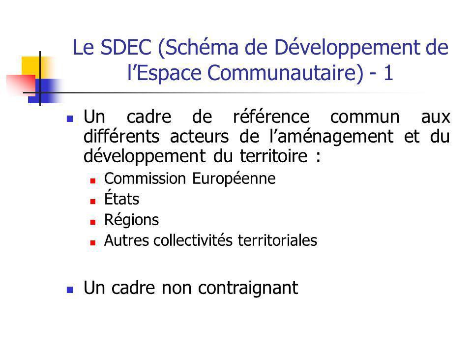 Le SDEC (Schéma de Développement de l'Espace Communautaire) - 1