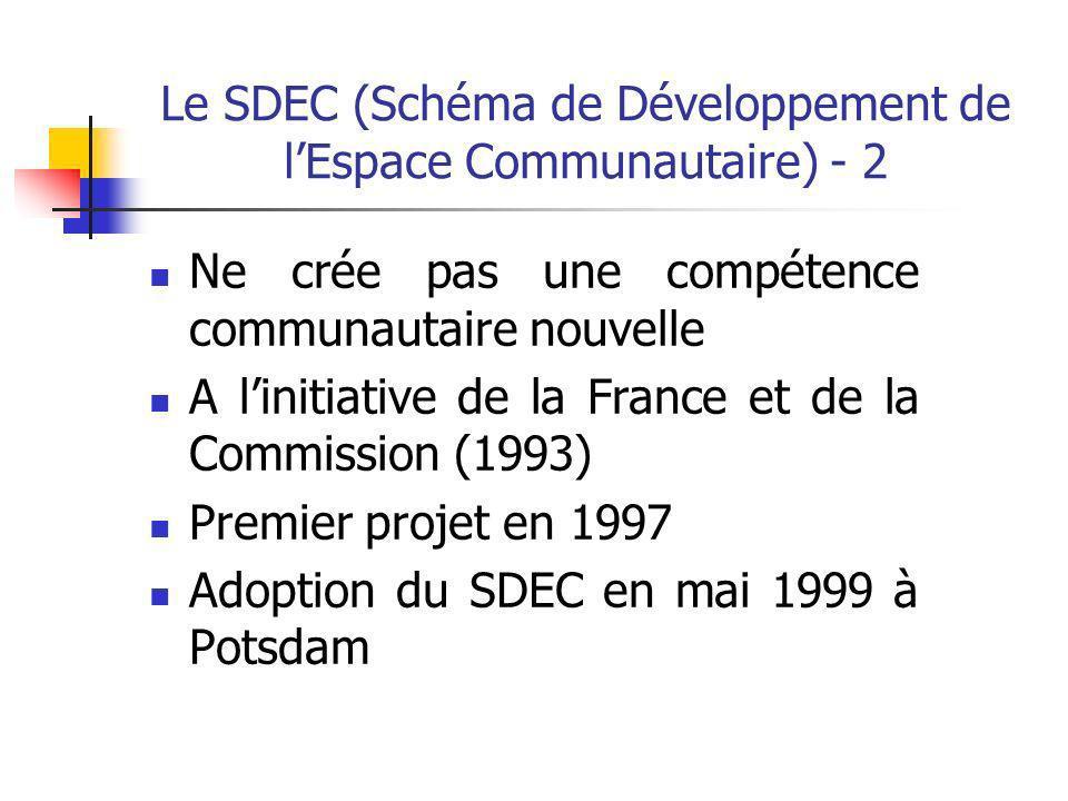 Le SDEC (Schéma de Développement de l'Espace Communautaire) - 2
