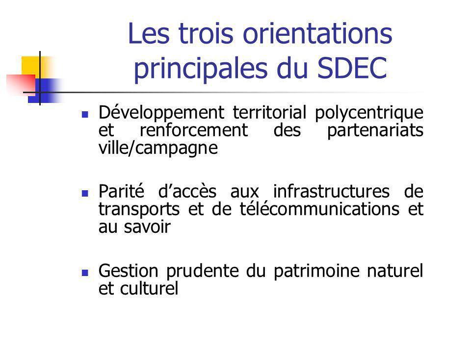 Les trois orientations principales du SDEC