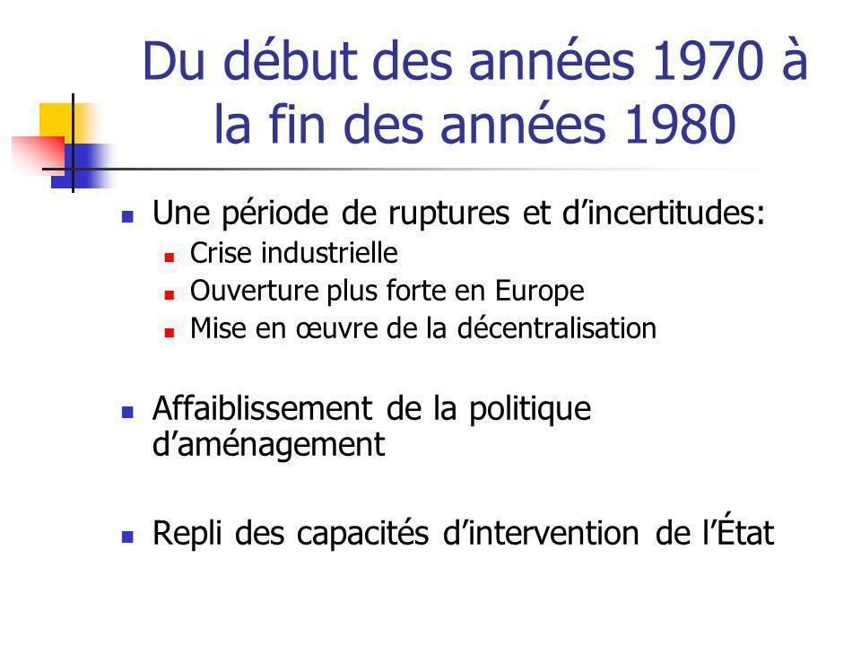 Du début des années 1970 à la fin des années 1980