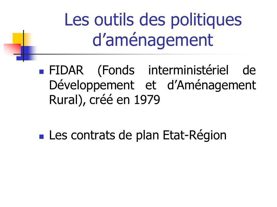 Les outils des politiques d'aménagement