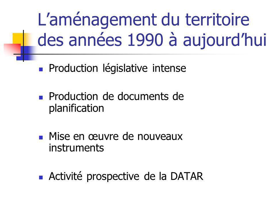 L'aménagement du territoire des années 1990 à aujourd'hui