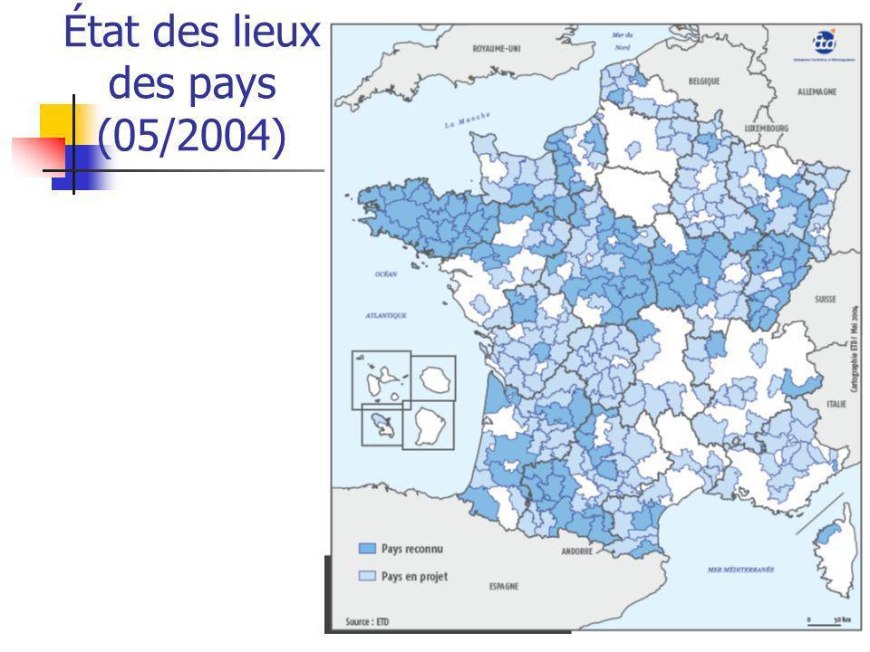 État des lieux des pays (05/2004)