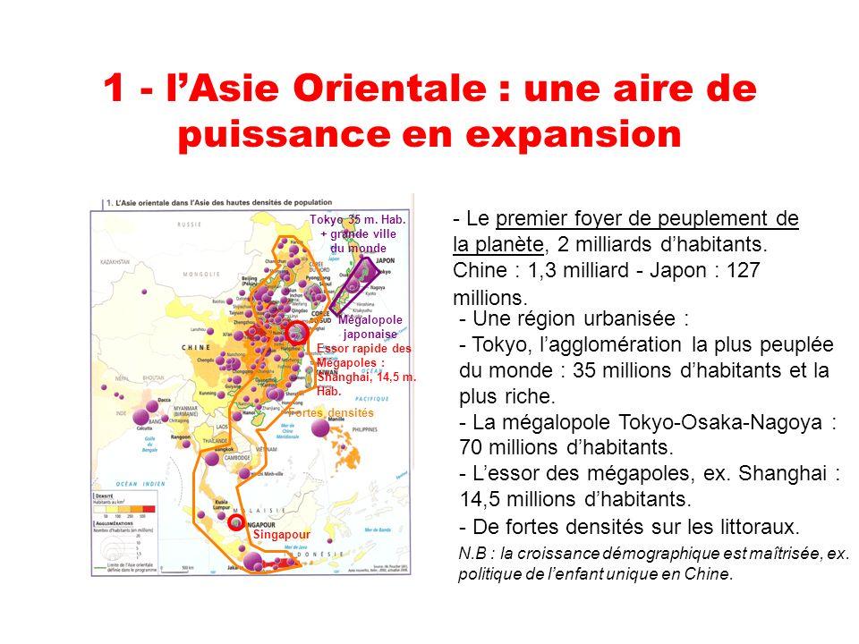 1 - l'Asie Orientale : une aire de puissance en expansion