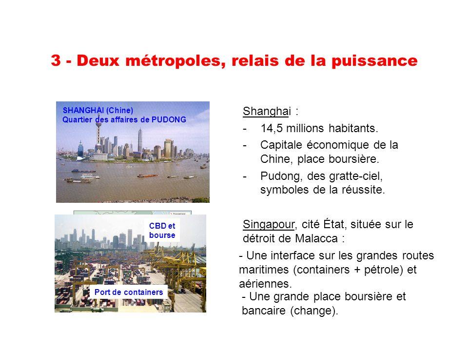 3 - Deux métropoles, relais de la puissance