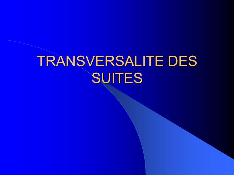 TRANSVERSALITE DES SUITES