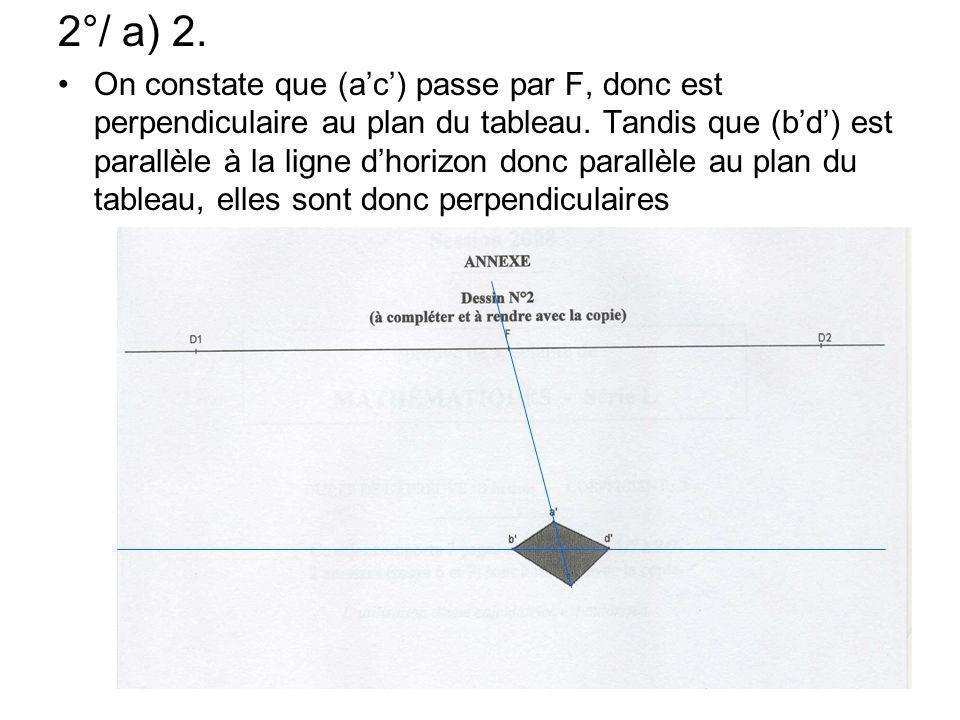 2°/ a) 2.