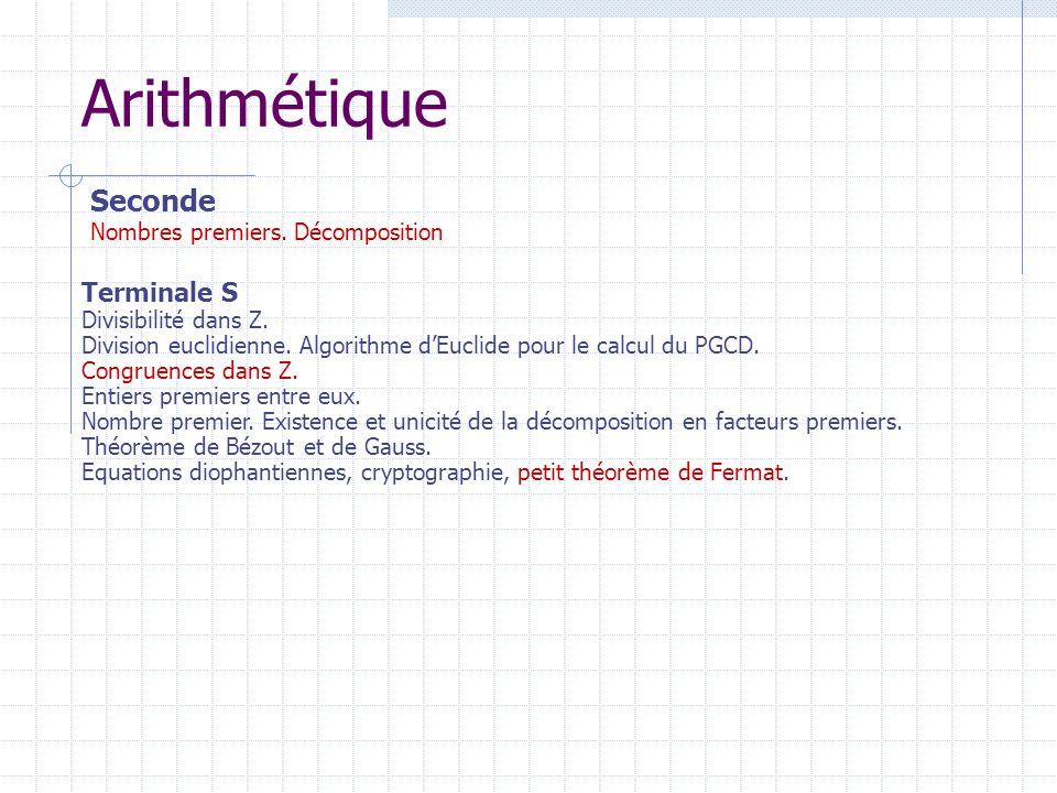 Arithmétique Seconde. Nombres premiers. Décomposition.