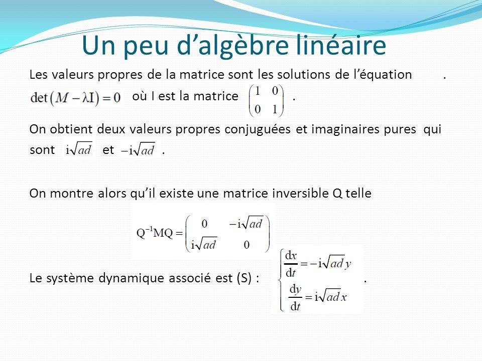 Un peu d'algèbre linéaire