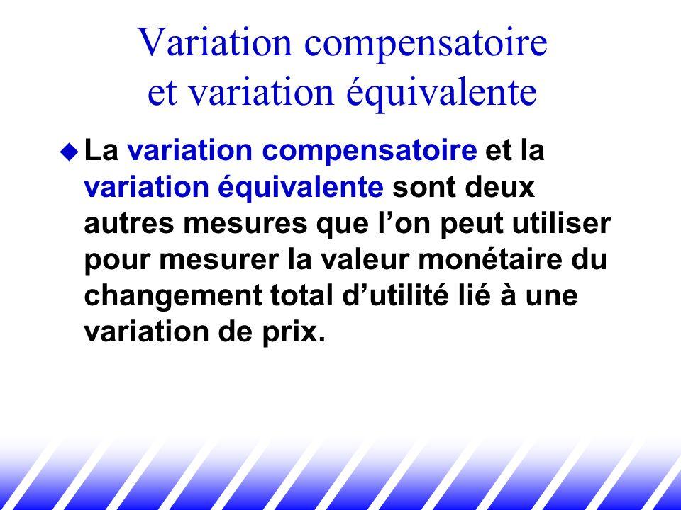 Variation compensatoire et variation équivalente