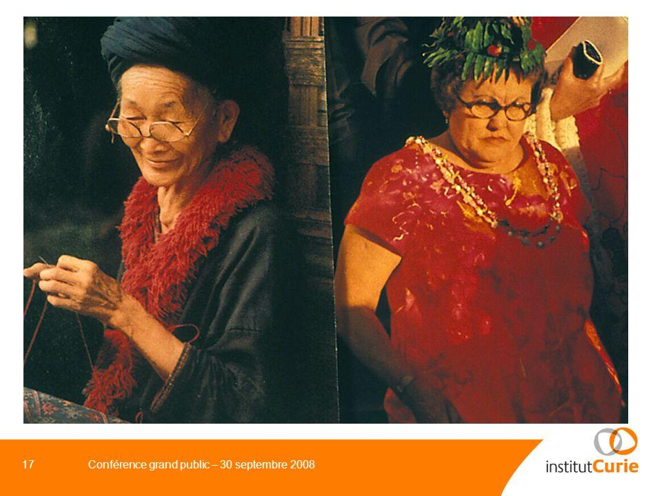 17 Conférence grand public – 30 septembre 2008