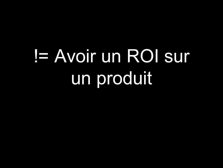 != Avoir un ROI sur un produit