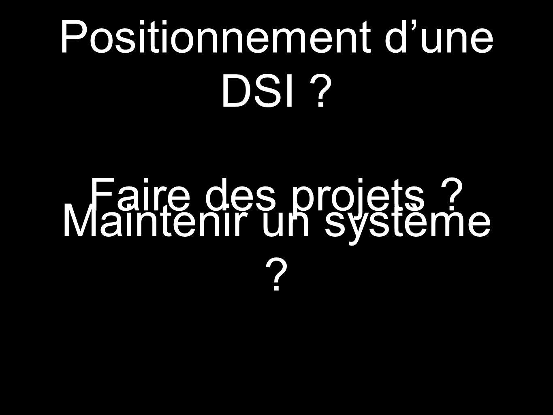 Positionnement d'une DSI