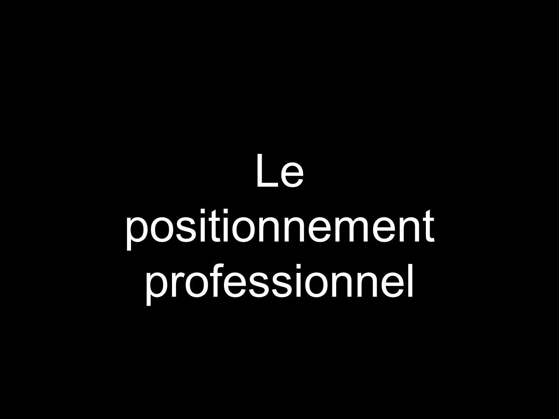 Le positionnement professionnel