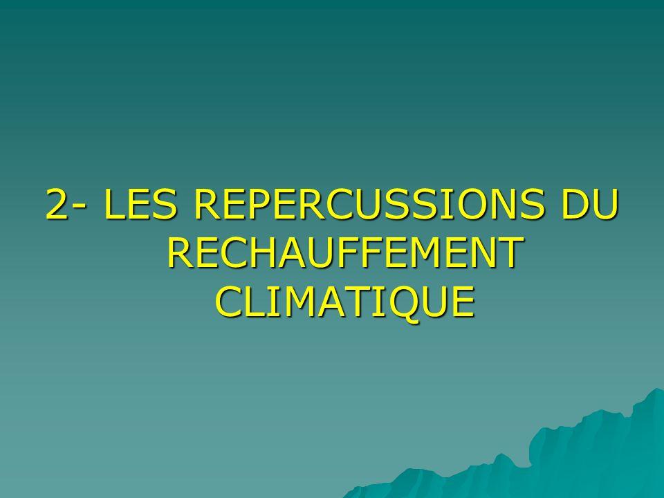 2- LES REPERCUSSIONS DU RECHAUFFEMENT CLIMATIQUE