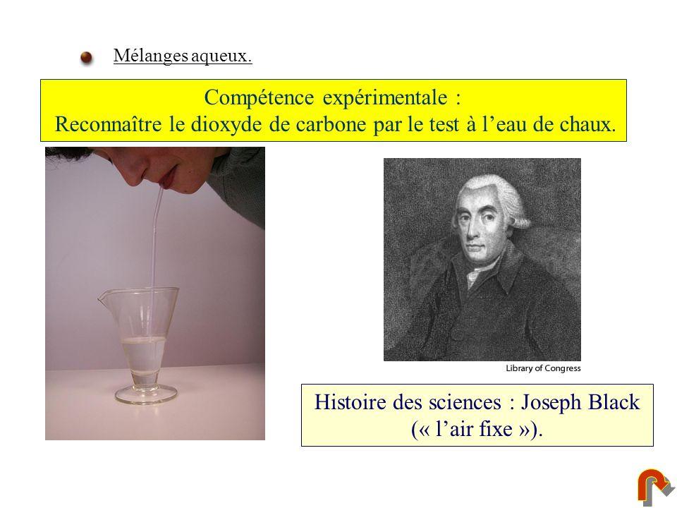 Histoire des sciences : Joseph Black (« l'air fixe »).
