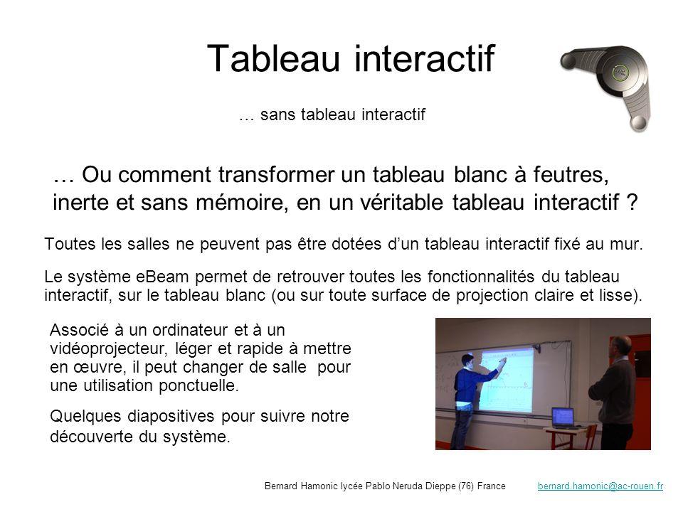 Tableau interactif … sans tableau interactif.
