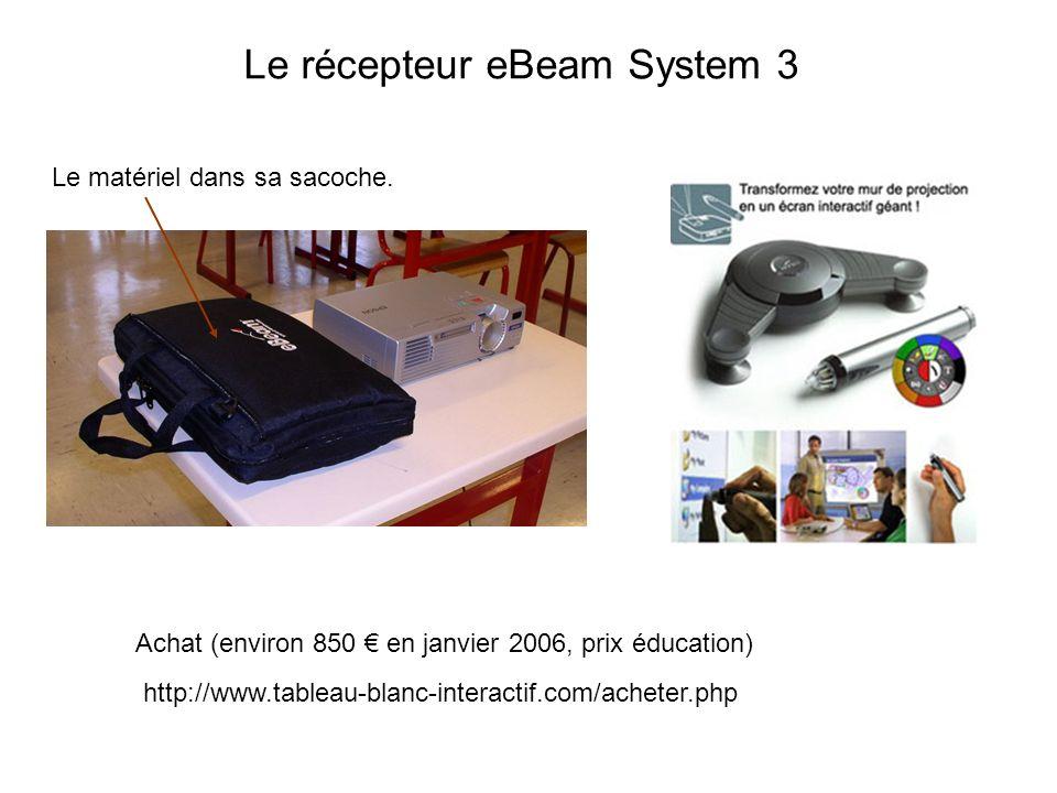 Le récepteur eBeam System 3