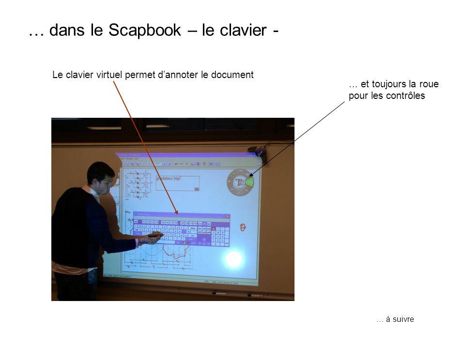 … dans le Scapbook – le clavier -