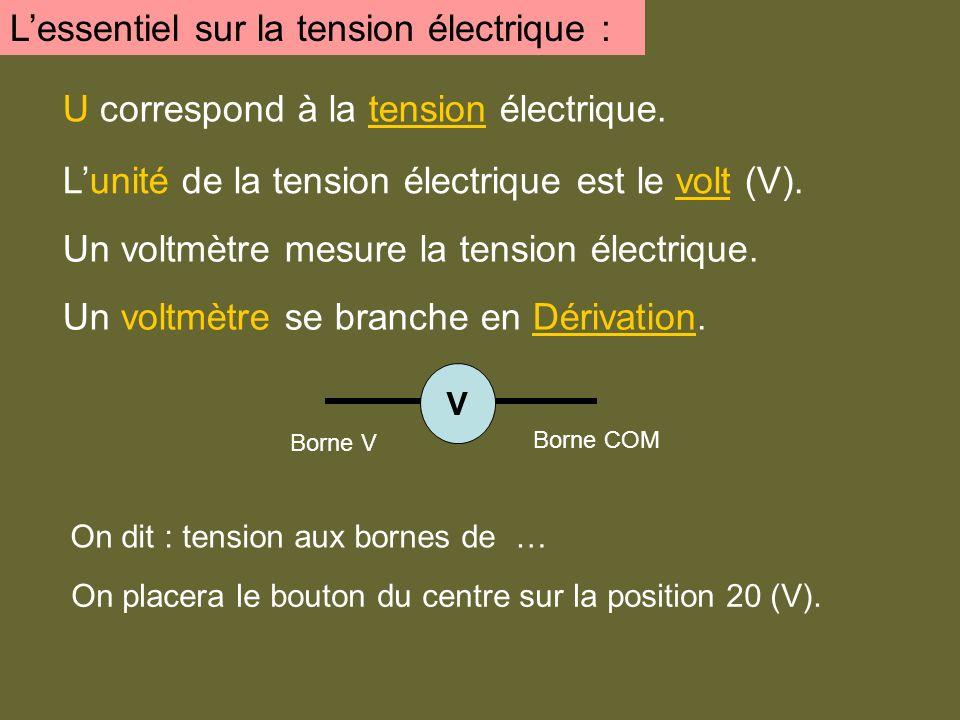 L'essentiel sur la tension électrique :