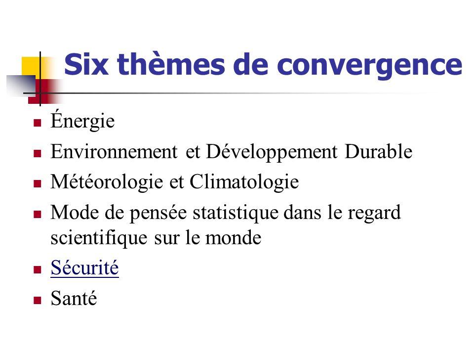 Six thèmes de convergence