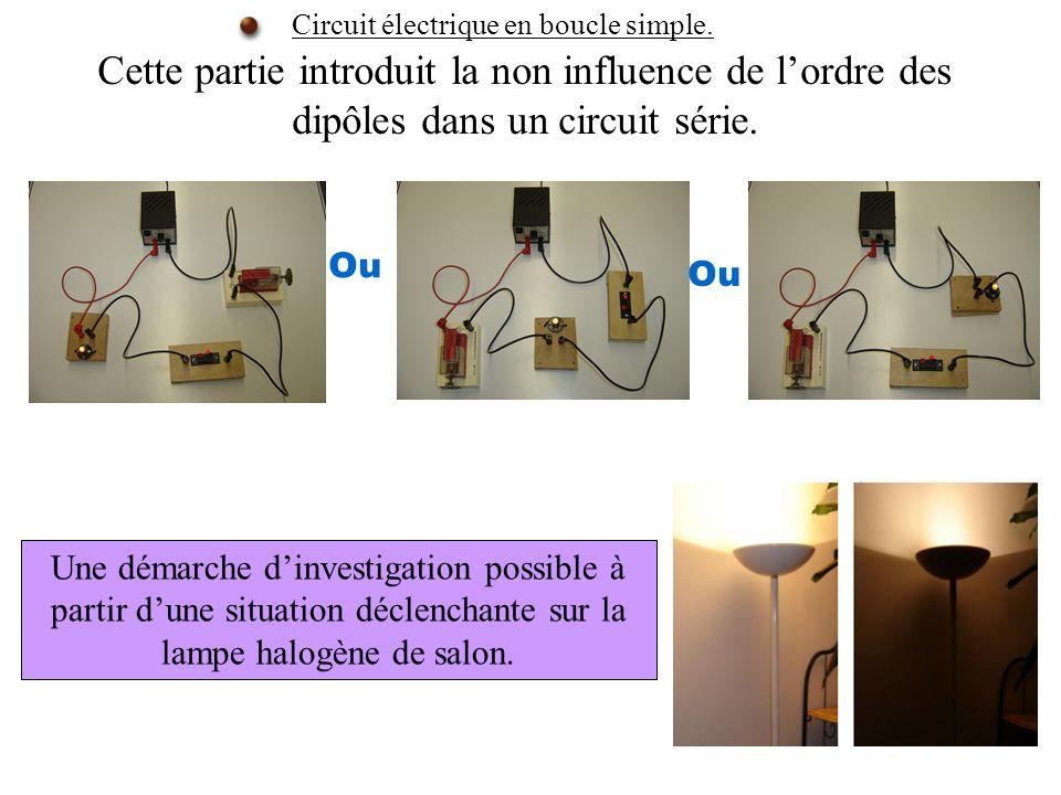 Circuit électrique en boucle simple.