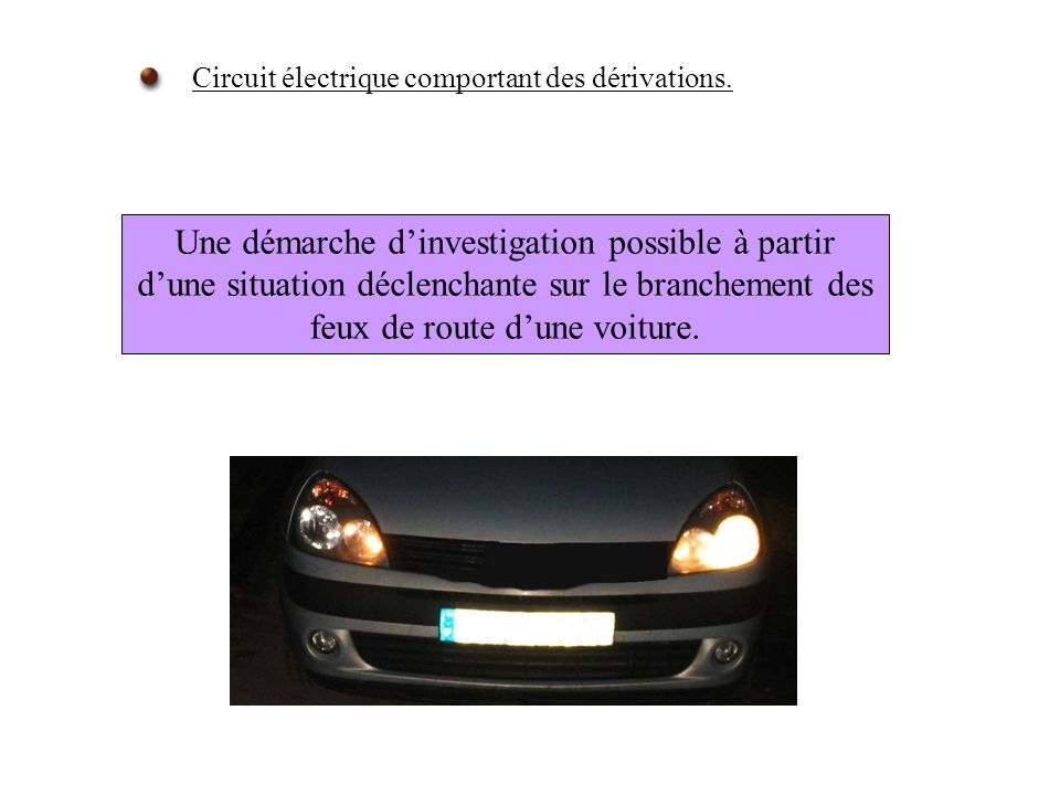 Circuit électrique comportant des dérivations.