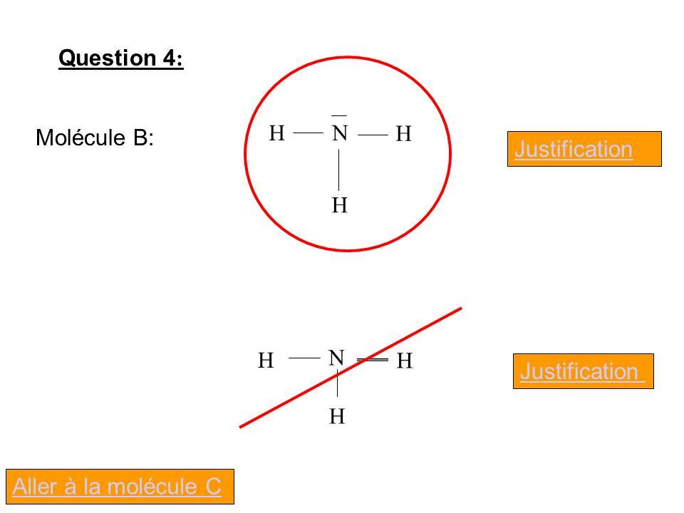 Question 4: N H Molécule B: Justification N H Justification Aller à la molécule C