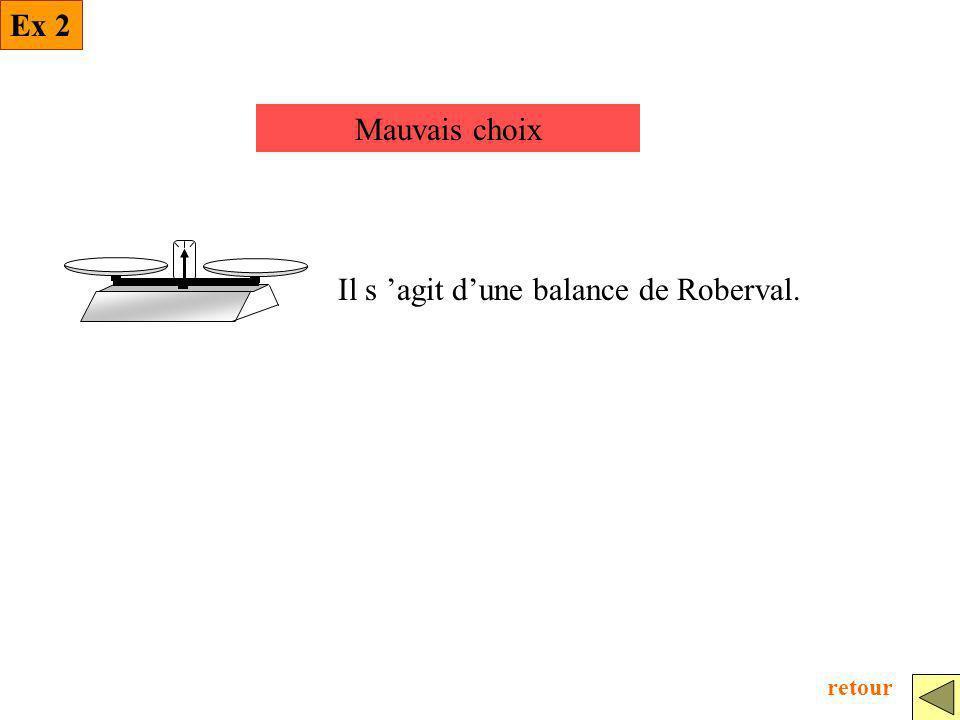 Il s 'agit d'une balance de Roberval.