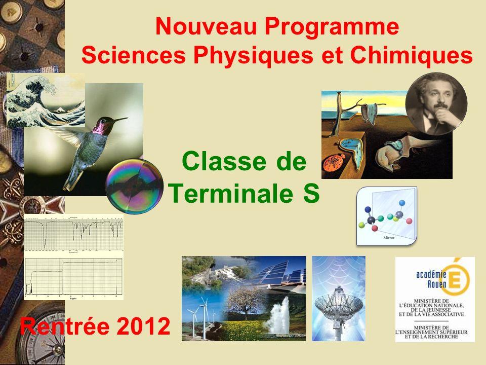 Nouveau Programme Sciences Physiques et Chimiques