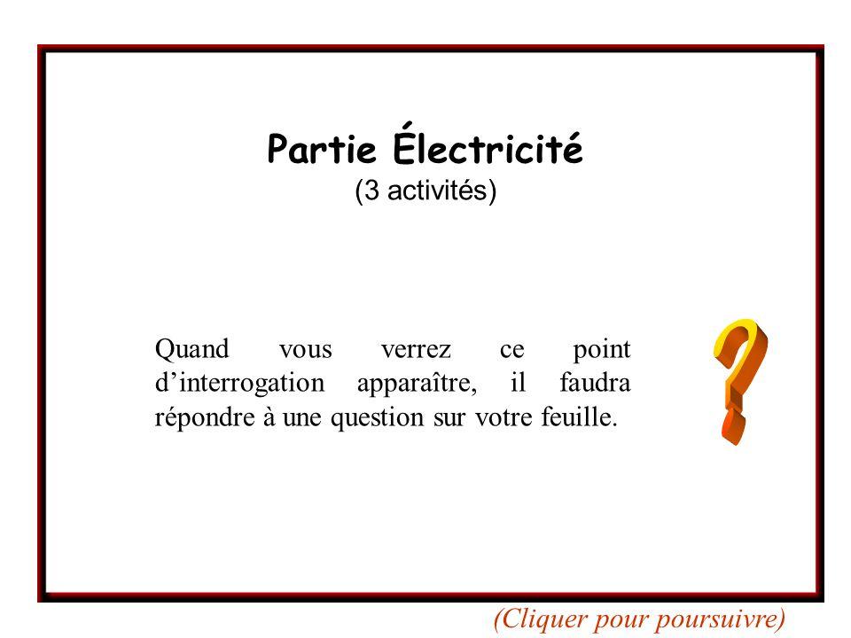 Partie Électricité (3 activités)