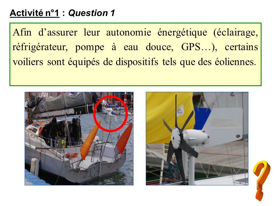 Activité n°1 : Question 1