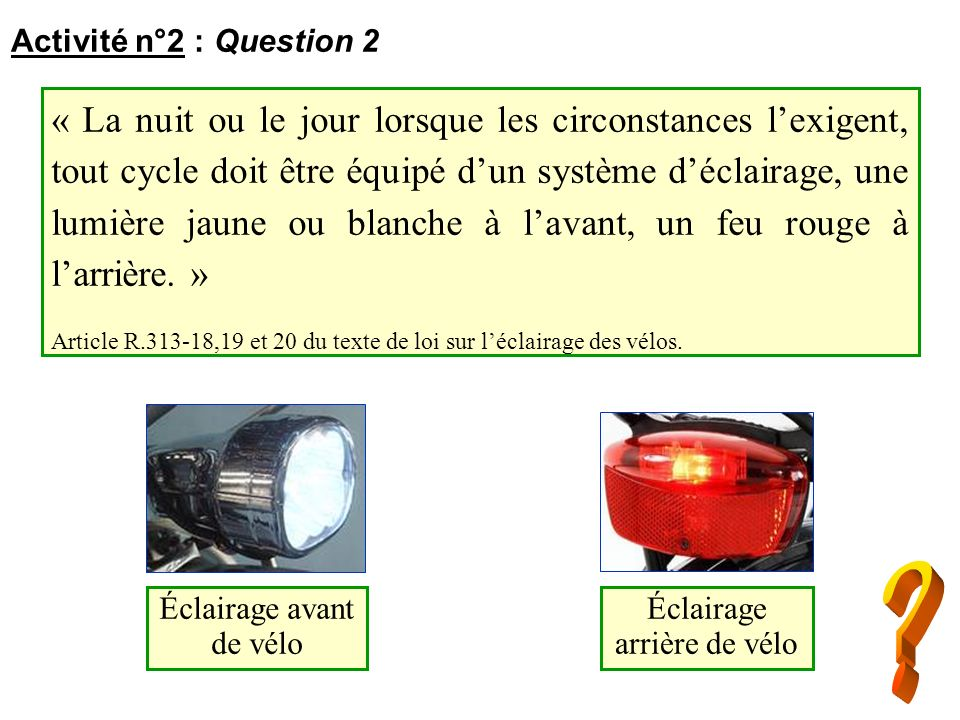 Activité n°2 : Question 2