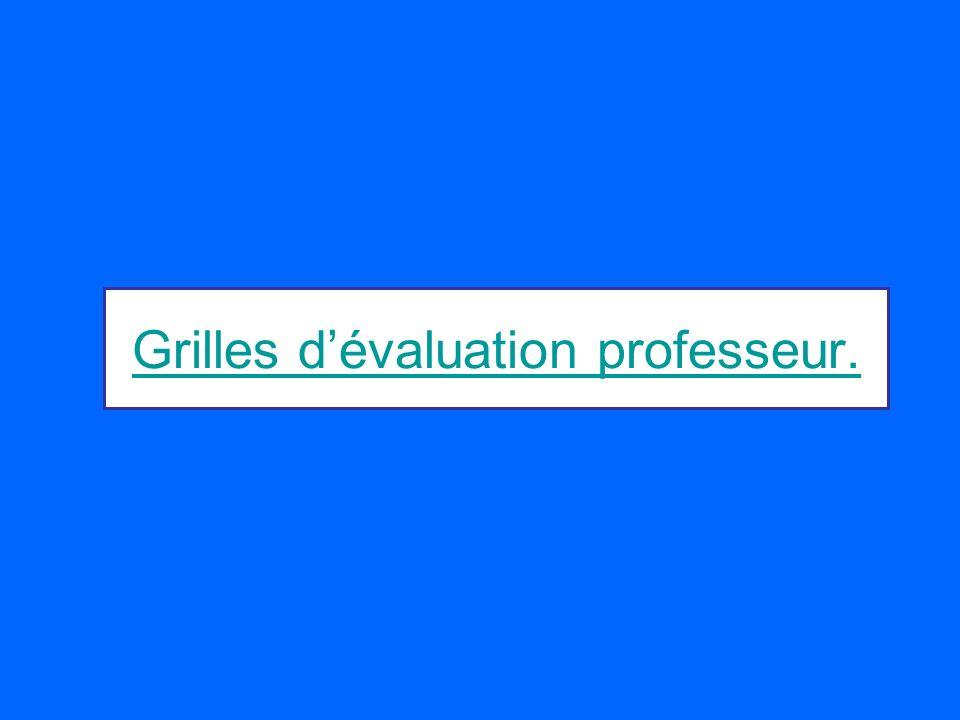 Grilles d'évaluation professeur.