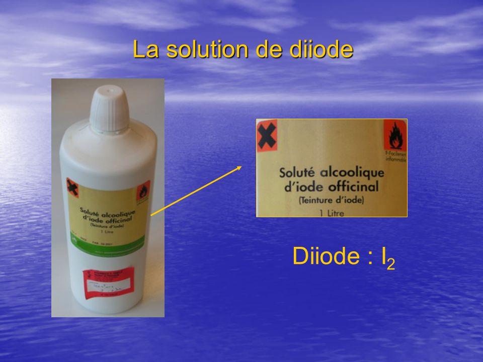 La solution de diiode Diiode : I2