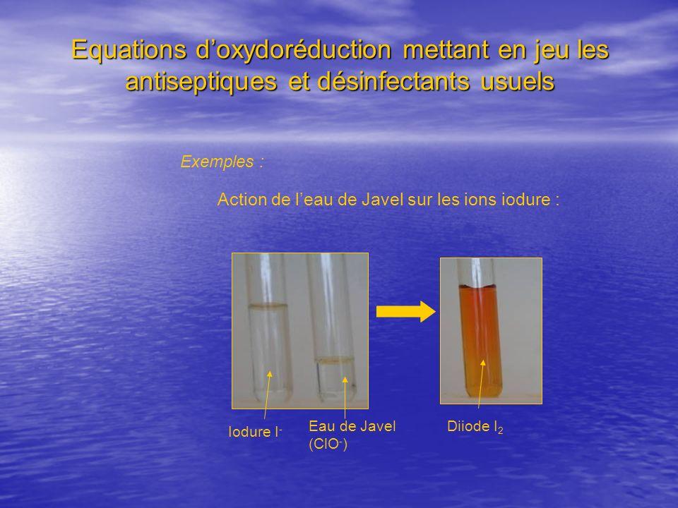 Action de l'eau de Javel sur les ions iodure :