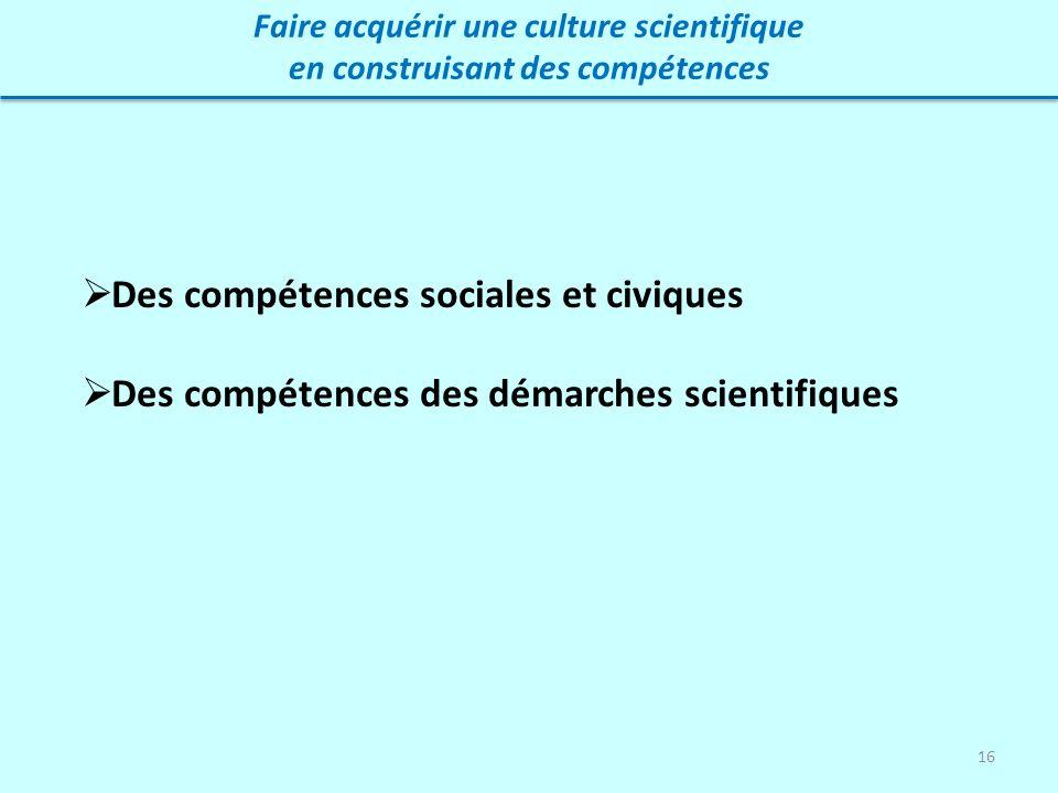 Des compétences sociales et civiques