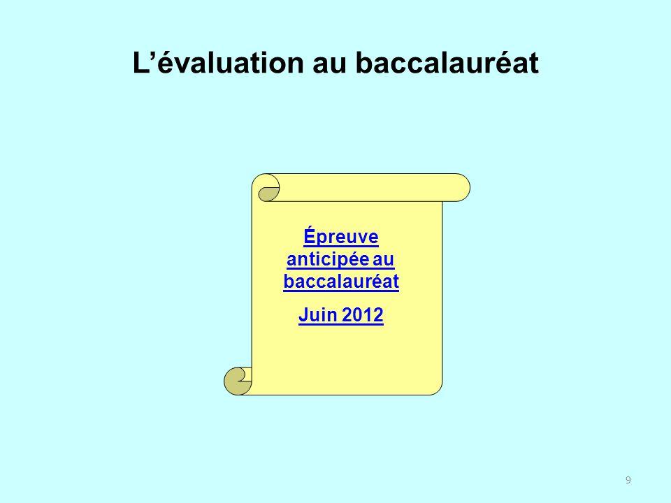 L'évaluation au baccalauréat