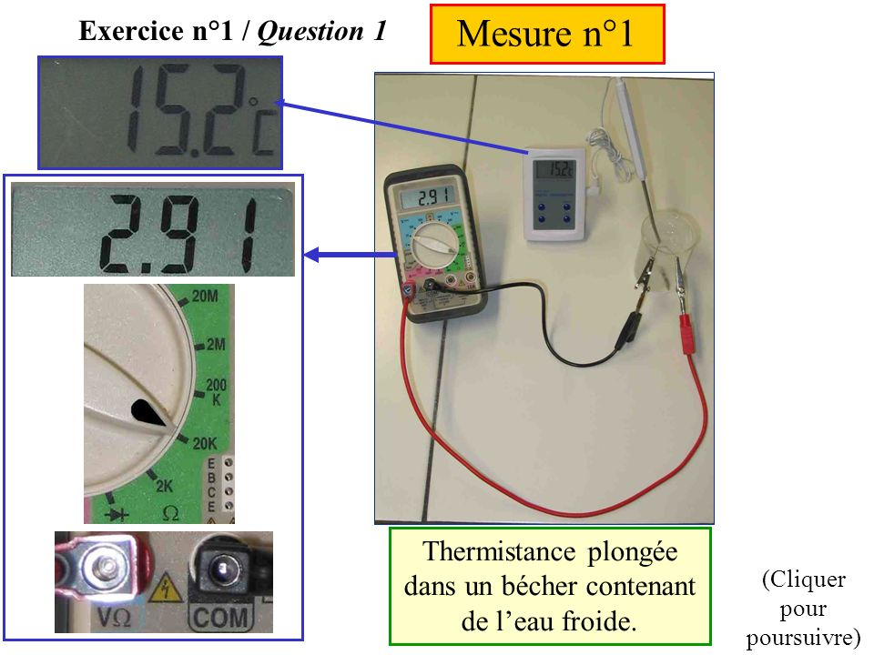 Mesure n°1 Exercice n°1 / Question 1