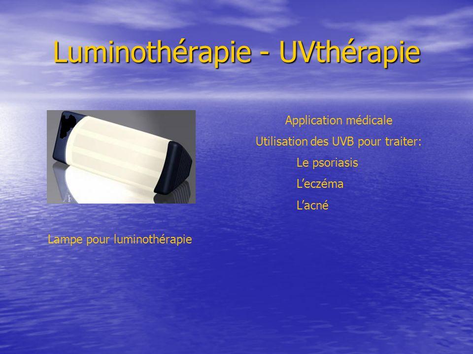 Luminothérapie - UVthérapie