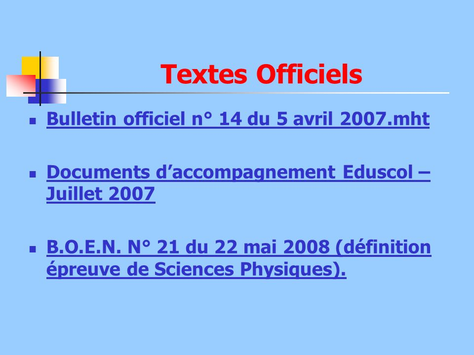 Textes Officiels Bulletin officiel n° 14 du 5 avril 2007.mht
